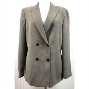 Anne Klein Suit Blazer Jacket Size 12 Brown Lined